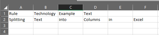 Excel text to column complete