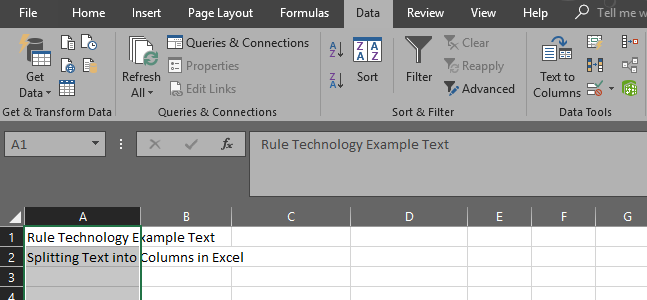 Excel text to column example