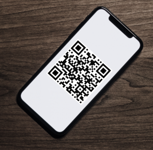 Phone with QR Codes
