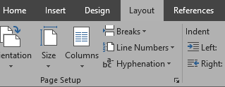 Word Layout Screenshot